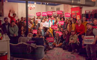Emmett Soldati Campaign Launch Party Draws 100+