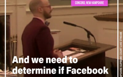 VIDEO: Emmett Soldati takes Facebook to NH Supreme Court