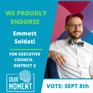 """Emmett Soldati is a leader that will step up and speak up for all of NH, ensuring no small towns get left behind. We are proud to give our next endorsement to Emmett Soldati for NH in his run for Executive Council, District 2."""